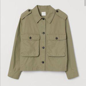 H&M lightweight green jacket